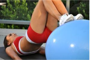 Yoga With Balance Ball